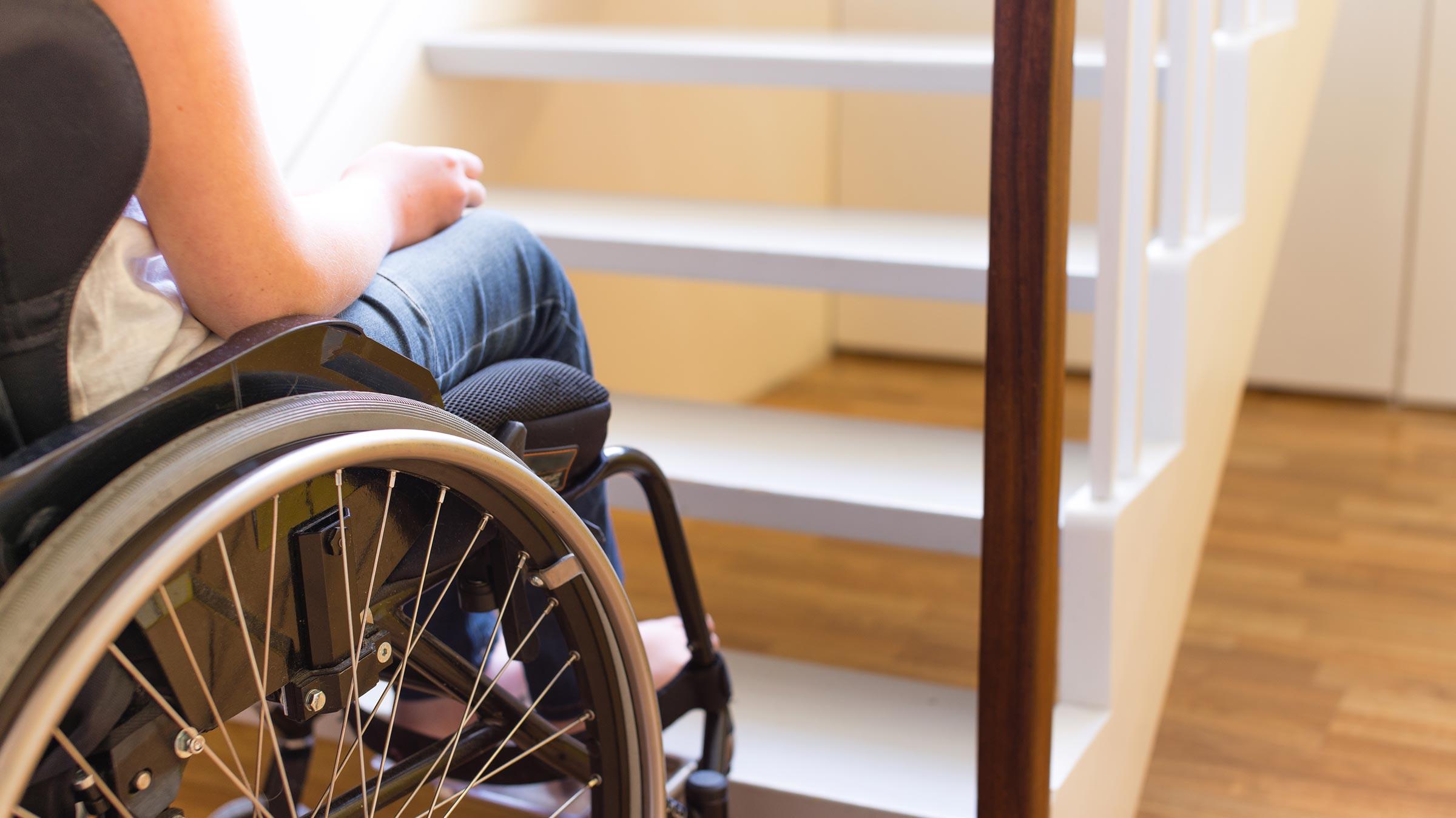 Problemi di accessibilità in una casa a due piani