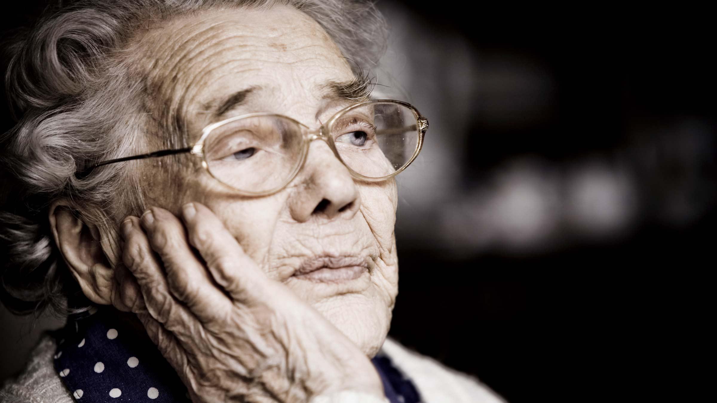 Viso di signora - Gli anziani quando si lasciano andare