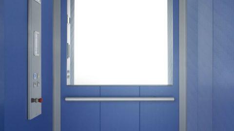 Cabina con interni in laminato blu