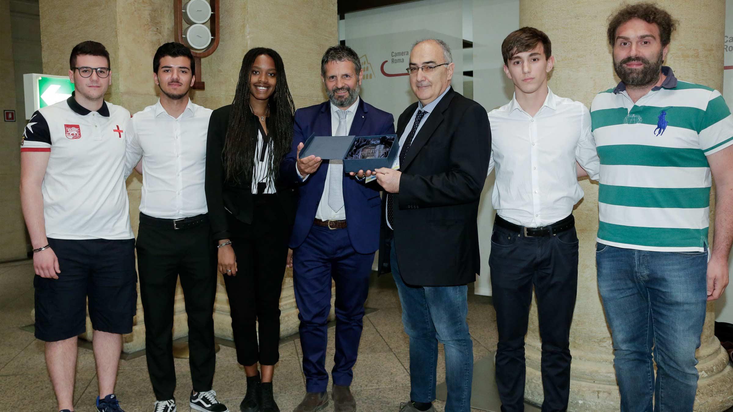 La premiazione del concorso Futuri Geometri