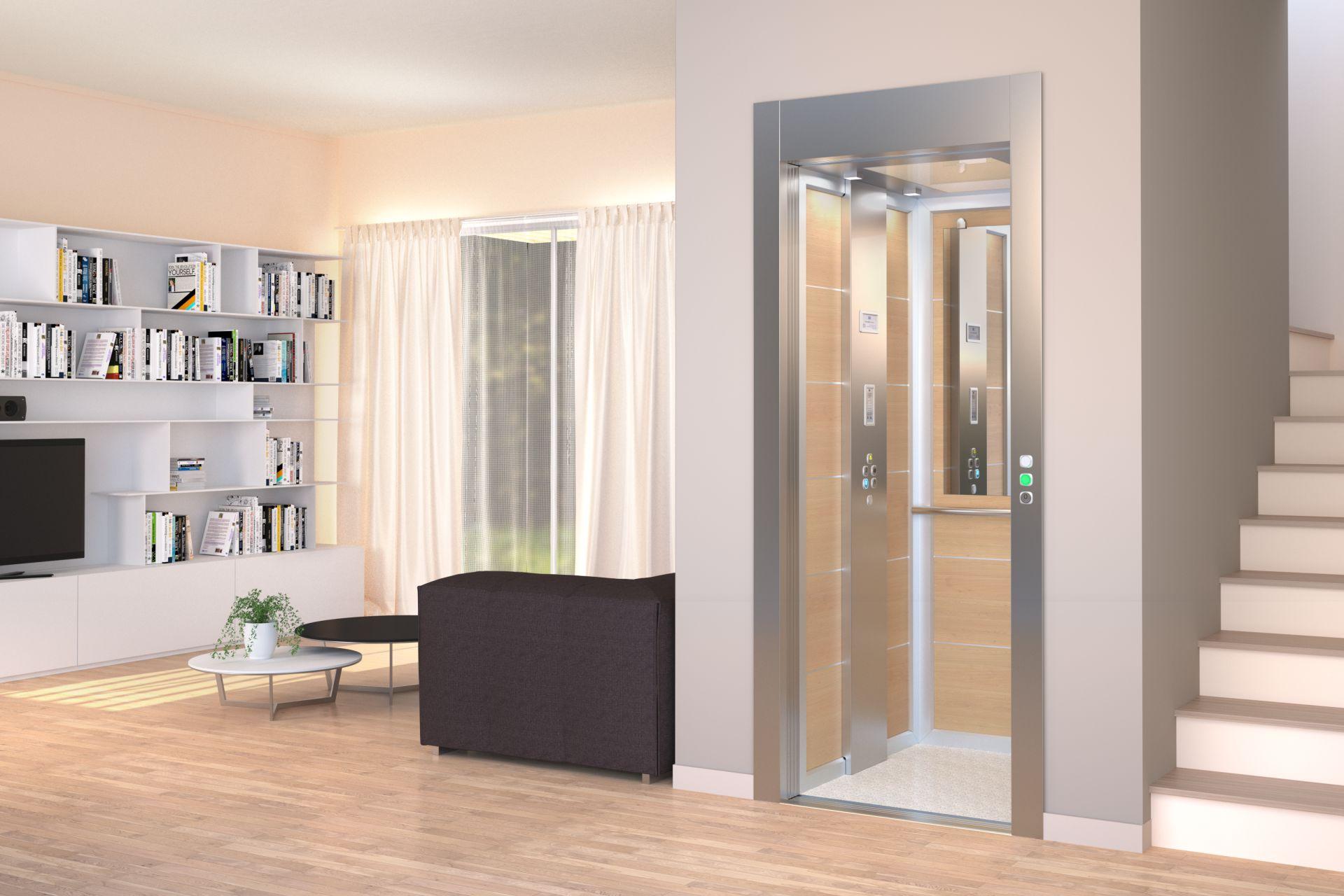 Miniascensore domestico per interni ed esterni armonico for Designer d interni famosi