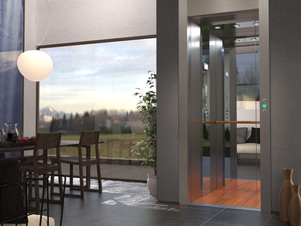 Interno villa con miniascensore di design